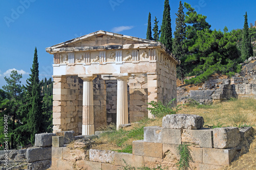 Treasure of the Athenians at Delphi oracle archaeological site i
