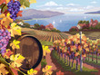 Vineyard and grapes bunches - 59250622