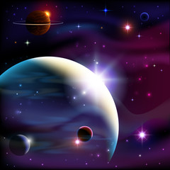 Planets and space. © akademik33