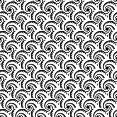 Design seamless uncolored spiral diagonal background