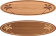 wooden surf boards with hawaii concept - 59252058