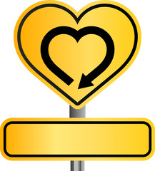 yellow heart sign