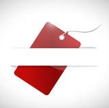 red tag and pocket illustration design