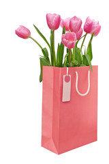 Bag with tulips