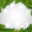 Vector background with Christmas tree frame