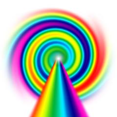 spirale ignota arcobaleno