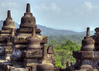 Gupta architecture of the ancient Buddhist temple, Borobodur