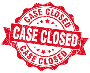Case closed red vintage seal