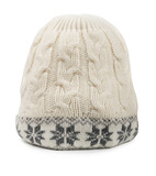 White winter woolen cap