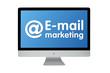 @ E-mail marketing. Modern computer