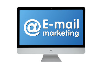 @ E-mail marketing. Modern computer