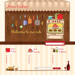 Home Cooking web template