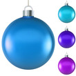 Blank blue Christmas ball