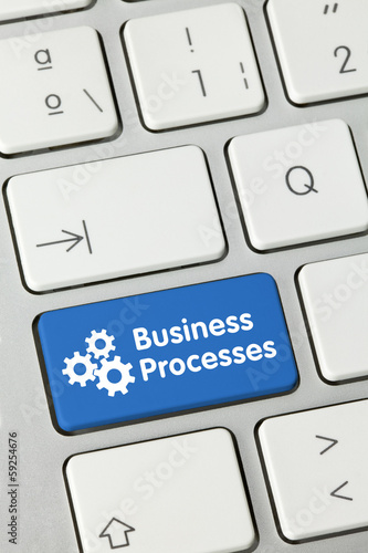Business processes. keyboard