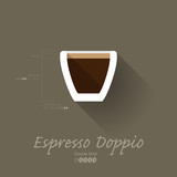 Simple Modern Espresso Doppio Manual Wallpaper