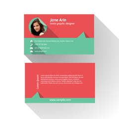 Simple Modern Light Business Card Template