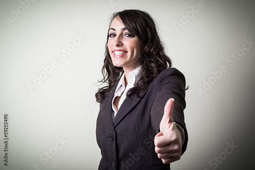 positive beautiful young businesswoman