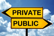 private or public, opposite signs