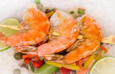 Shrimp skewer
