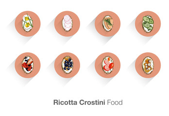 ricotta crostini food