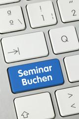 Seminar buchen. Tastatur