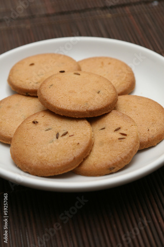 Plate full of biscuits
