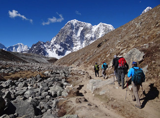 Trekking dans l'Himalaya, Khumbu - Népal