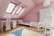 Urban apartment - pink room