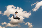Man on the cloud