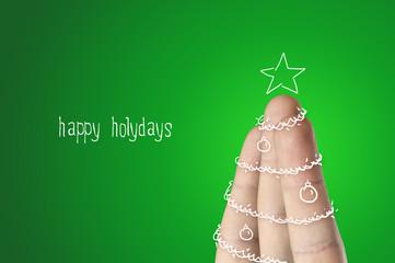 Christmas finger tree