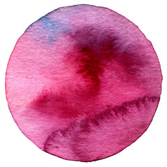 Abstract circle watercolor painted background