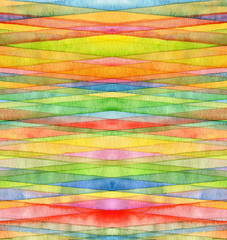 Abstract strip watercolor painted background