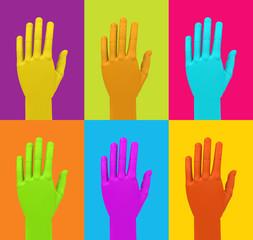 Die bunten Hände
