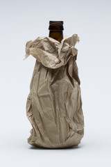 Booze in paperbag, vertical