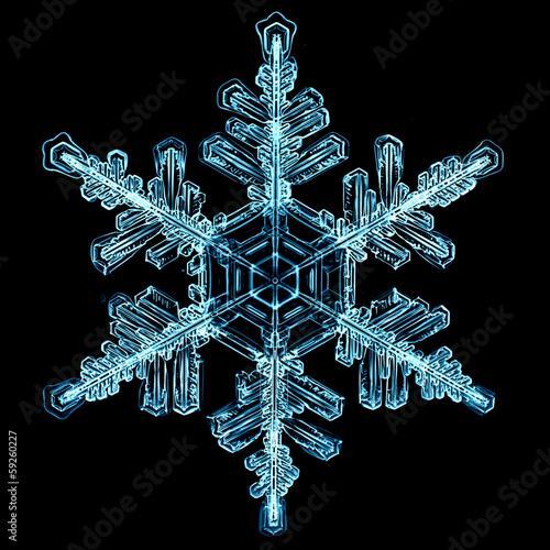 Staande foto Textures natural crystal snowflake macro