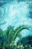 palm leaves abstract