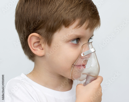 boy with an inhaler