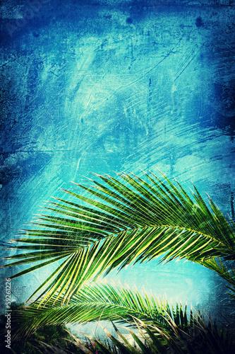 grunge palm