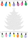 Luminous garland and silver Christmas tree