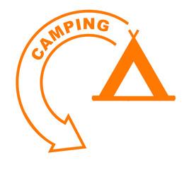 camping flèche orange