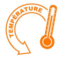 température flèche orange