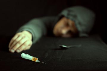 Grunge image of a depressed drug
