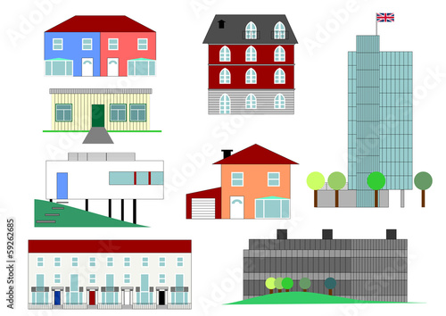 Houses illustration