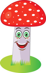 Стоковая векторная картинка - гриб мухомор