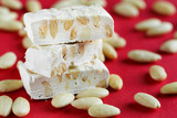 Torrone from Italy. Turron with almon sweet