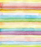 Fototapety Abstract strips watercolor painted background