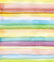 Abstract strips watercolor painted background