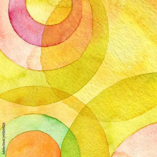 Fotobehang Geschilderde Achtergrond Abstract watercolor circle painted background