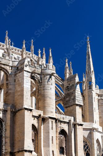 Architecture details of Saint Just Cathedral at Narbonne in Fran