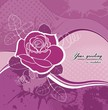 vector background with rose in grunge style